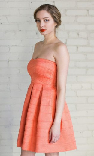 Peach bridesmaid dress - www.etsy.com/shop/BreathOfYouthVintage