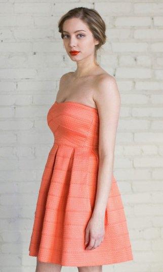 Peach bridesmaid dress - www.etsy.com/shop/BreathOfYouthVintage