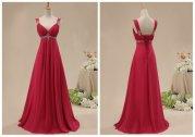 Ruby-red bridesmaid dress - www.etsy.com/shop/bridesmall