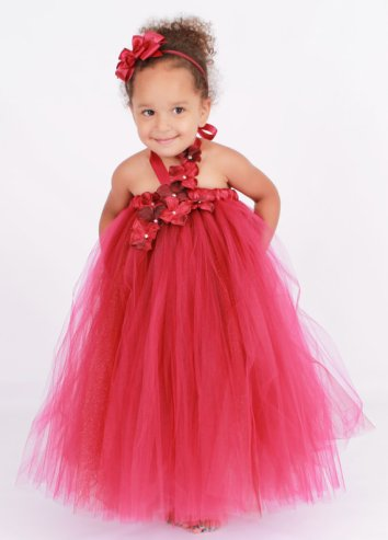 Ruby-red flower girl dress - www.etsy.com/shop/Cutiepatootiedesignz