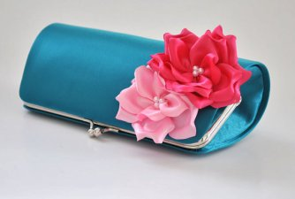 Teal and pink clutch purse - www.etsy.com/shop/Vanijja