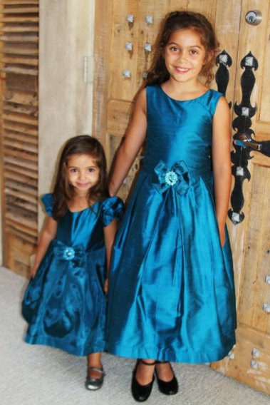Teal flower girl dresses - www.etsy.com/shop/SpecialbyGrace