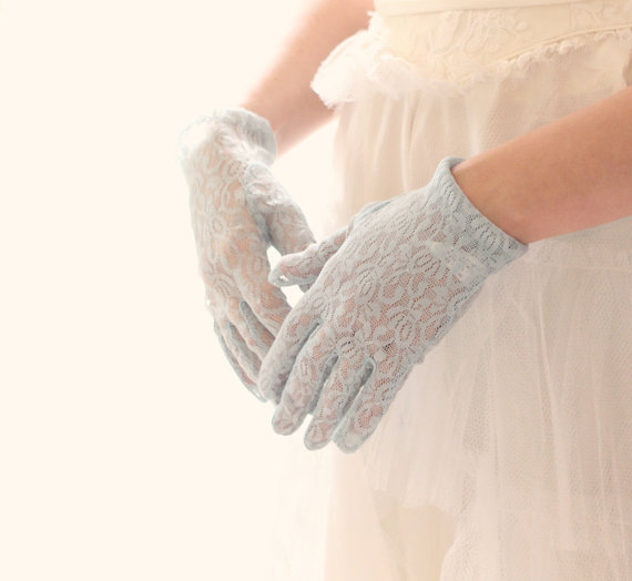 Vintage powder-blue lace gloves - www.etsy.com/shop/whichgoose
