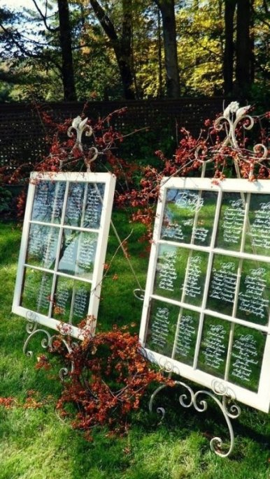 Vintage seating chart windows - www.etsy.com/shop/VintageHouseCreation