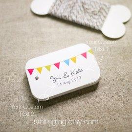 Wedding favour tags - www.etsy.com/shop/SmilingTag