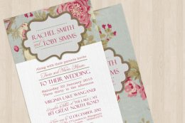 Wedding invitation - www.etsy.com/shop/inkprints