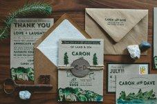 Wedding invitation - www.etsy.com/shop/WideEyesPaperCo