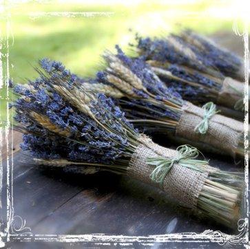 Wheat and lavender bouquets - www.etsy.com/shop/sparkleandposy