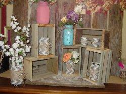 Wooden display crates - www.etsy.com/shop/primitivearts