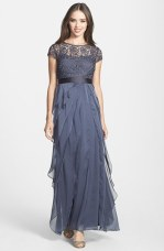 Adrianna Papell Layered Chiffon & Lace Gown - nordstrom.com