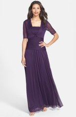 Adrianna Papell Strapless Gown & Crop Jacket - nordstrom.com