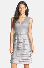Adrianna Papell Tiered Charmeuse Sheath Dress - nordstrom.com