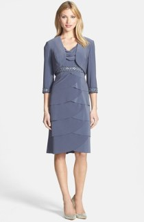 Alex Evenings tiered dress and bolero - nordstrom.com