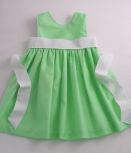 Apple-green flower girl dress - www.etsy.com/shop/patriciasmithdesigns
