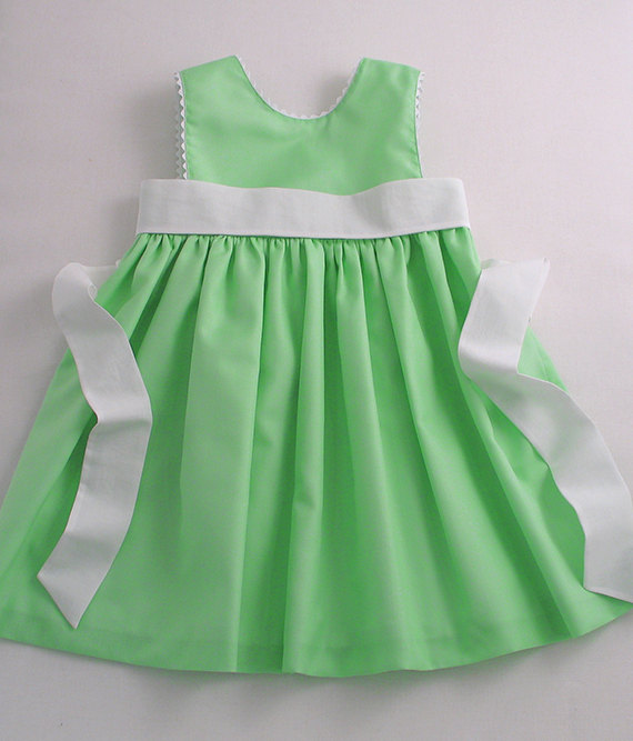 Apple-green Flower Girl Dress