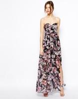 Asos bandeau floral maxi dress - asos.com