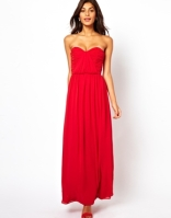 Asos bandeau ruched maxi dress - asos.com