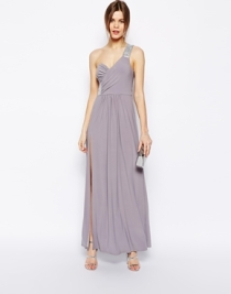 Asos embellished shoulder maxi dress - asos.com