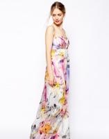 Asos floral bandeau maxi dress - asos.com