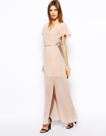 Asos maxi dress with ruffle sleeve - asos.com