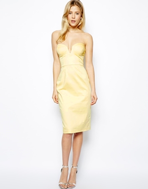 Asos midi strapless dress - asos.com