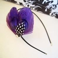 Black, white and purple headband - www.etsy.com/shop/TheHeadbandShoppe