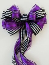 Black, white and purple pew bow - www.etsy.com/shop/SimplyAdornmentsss