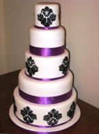 Black, white and purple wedding cake {via simmer.co.nz}