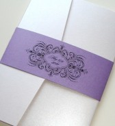 Black, white and purple wedding invitation suite - www.etsy.com/shop/EmbellishedPaperie