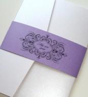 Black, white and purple wedding invitation suite - www.etsy.com/shop/EmbellishedPaperie