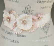 Blush and ivory bridal sash - www.etsy.com/shop/BeSomethingNew