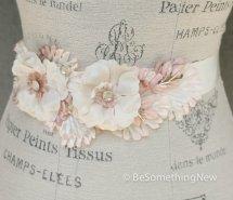 Blush and ivory bridal sash - www.etsy.com/shop/BeSomethingNew