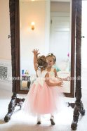 Blush and ivory flower girl dress - www.etsy.com/shop/OliviaKateCouture