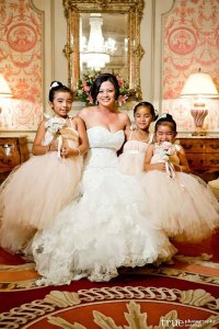 Blush and ivory flower girl dresses - www.etsy.com/shop/littledreamersinc