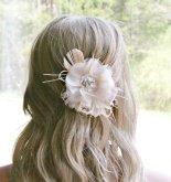 Blush and ivory hair accessory - www.etsy.com/shop/FancieStrands
