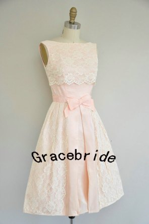 Blush and ivory lace bridesmaid dress - www.etsy.com/shop/Gracebride