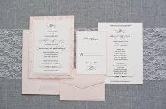 Blush and ivory wedding invitation - www.etsy.com/shop/LamaWorks