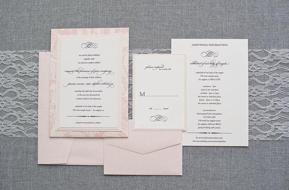 Blush And Ivory Wedding Invitations: Blush And Ivory Wedding Invitation