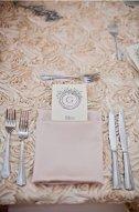 Blush rosette-style table runner - www.etsy.com/shop/Jessmy