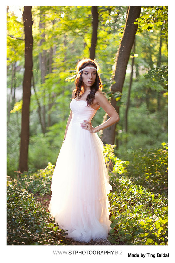 Blush and ivory wedding the merry bride for Best etsy wedding dress shops
