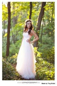 Blush tulle wedding dress - www.etsy.com/shop/TingBridal