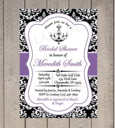 Bridal shower invitation - www.etsy.com/shop/VividLaneDesigns