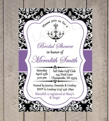 Bridal shower invitation - www.etsy.com/shop/VividLaneDesigns