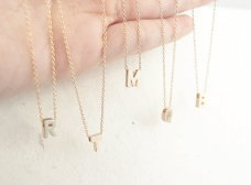 Bridesmaid initial necklaces - www.etsy.com/shop/LittleThingsByTCY