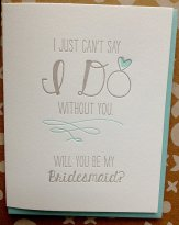 Bridesmaid invitation card - www.etsy.com/shop/jdeluce