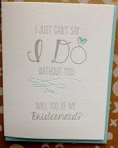 Bridesmaid invitation card - www.etsy.com/shop/jdeluce