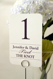 Customised table numbers - www.etsy.com/shop/ViennaIsLove