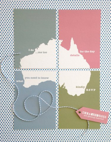 Customised travel wedding invitation - www.etsy.com/shop/PeahenStationery