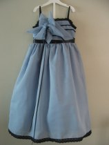 Dusty blue flower girl dress - www.etsy.com/shop/sewsemsem46