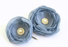 Dusty blue hair accessories - www.etsy.com/shop/BelleBlooms